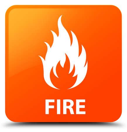 ominous: Fire orange square button