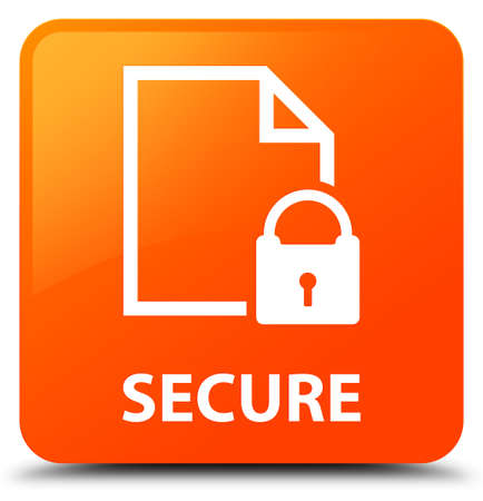 key hole: Secure (document page padlock icon) orange square button