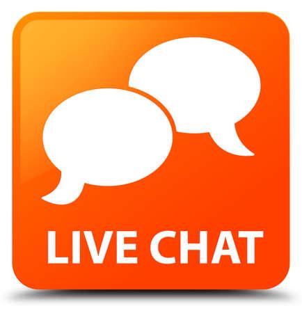 Live chat orange square button
