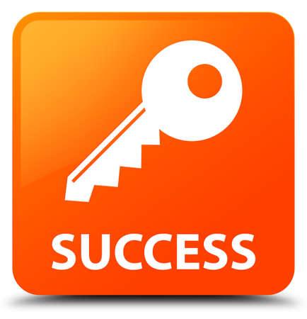 Success (key icon) orange square button