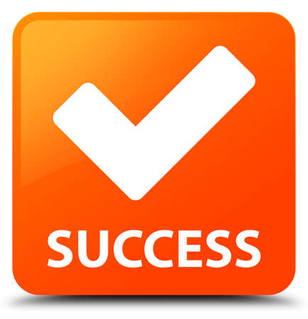validate: Success (validate icon) orange square button