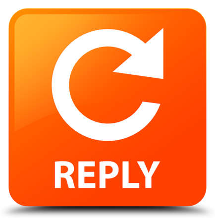 reply: Reply (rotate arrow icon) orange square button