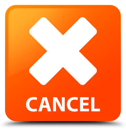 Cancel orange square button