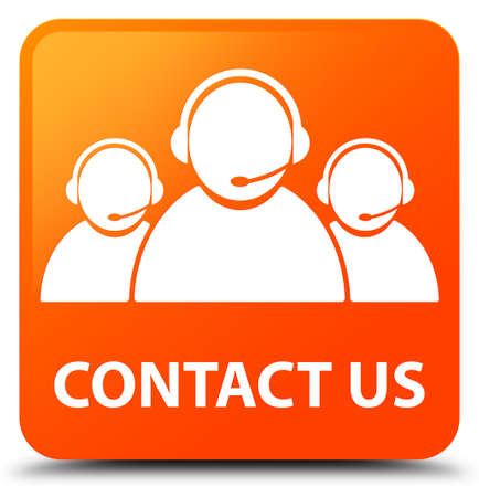Contact us (customer care team icon) orange square button