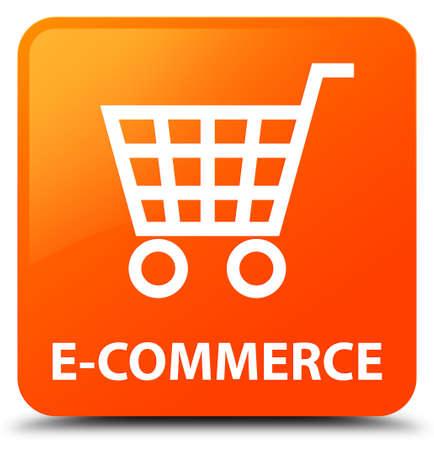 square button: E-commerce orange square button