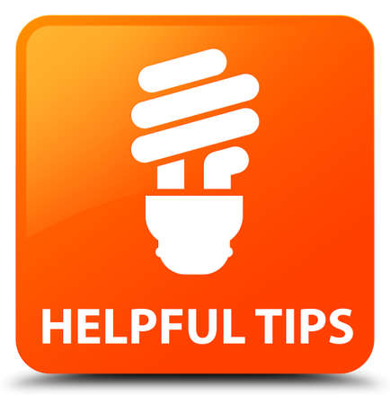 helpful: Helpful tips (bulb icon) orange square button