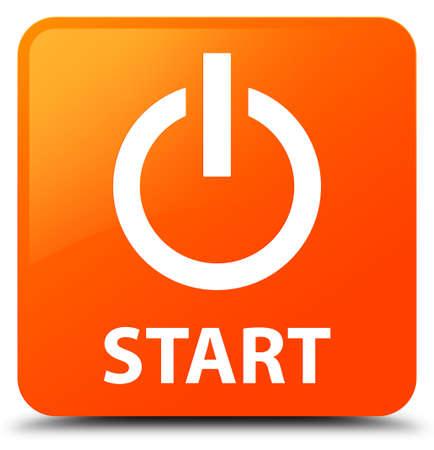 Start (power icon) orange square button
