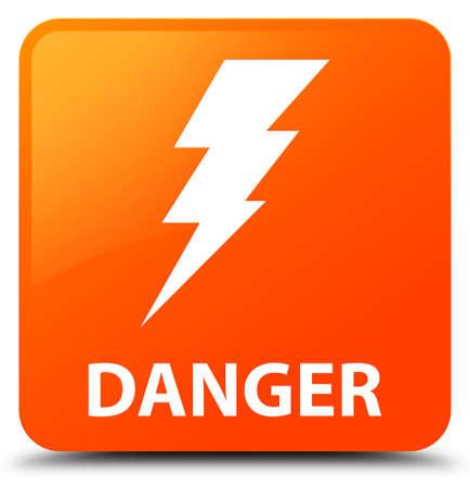 high voltage: Danger (electricity icon) orange square button