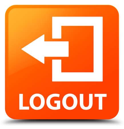 logout: Logout orange square button