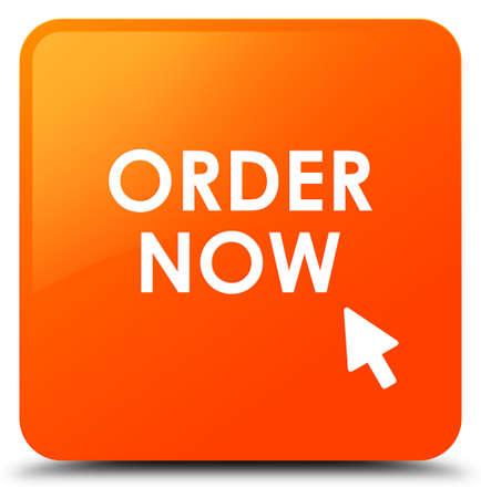 Order now orange square button Stock Photo
