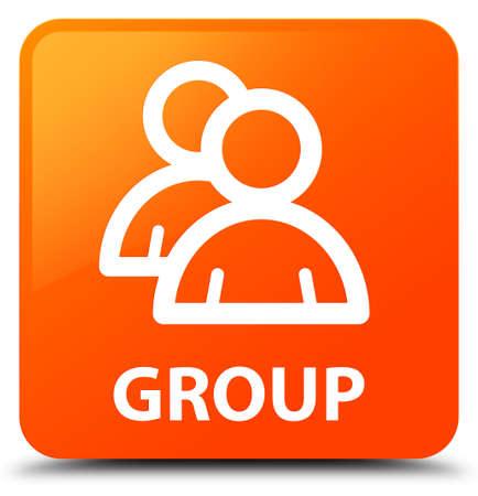 account: Group orange square button