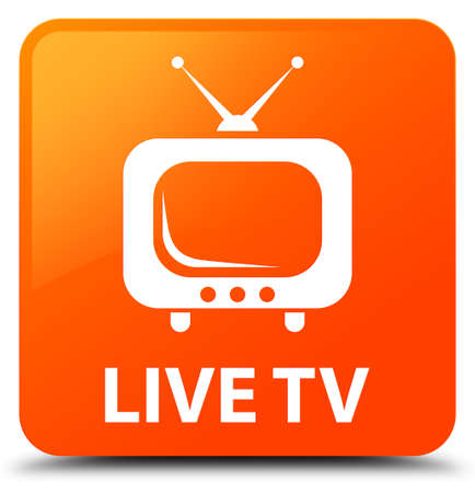 Live tv orange square button