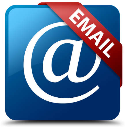 Email (address icon) blue square button Stock Photo