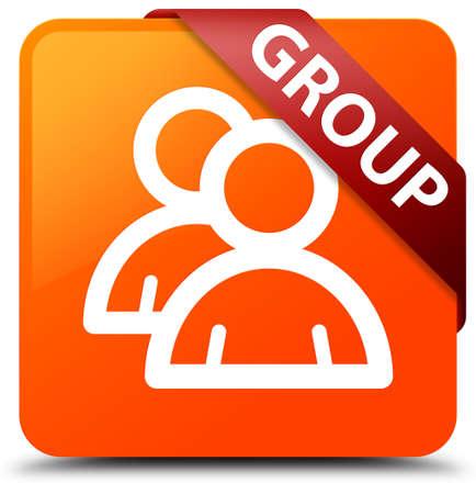 Group orange square button