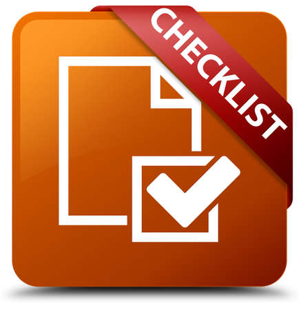 Checklist brown square button