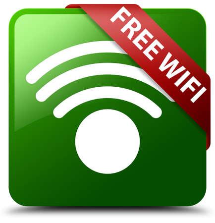 Free wifi green square button