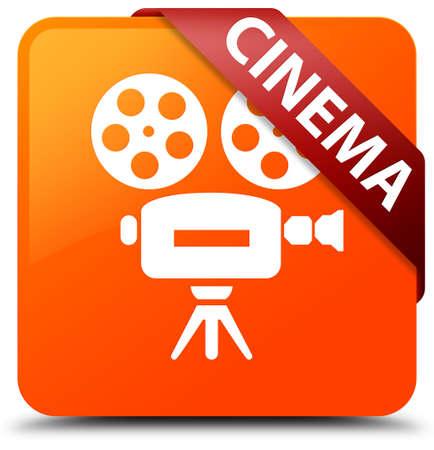 cinematographic: Cinema (video camera icon) orange square button