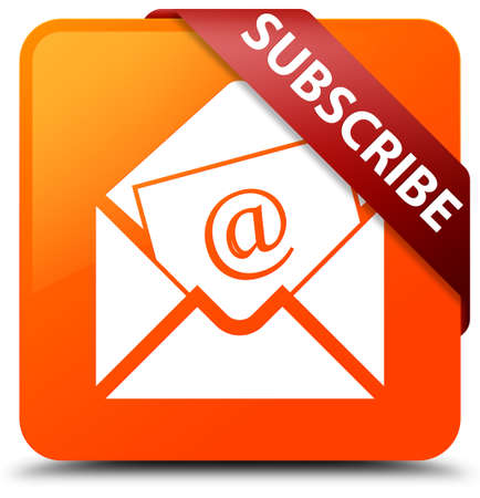 Subscribe (newsletter email icon) orange square button