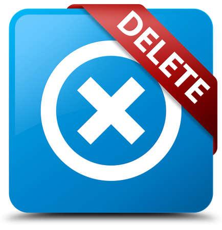 cancellation: Delete cyan blue square button