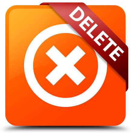 Delete orange square button