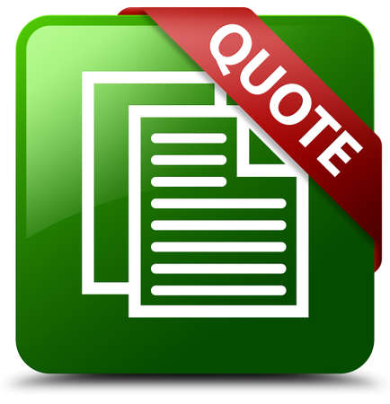 tribute: Quote (document pages icon) green square button