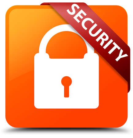 Security (padlock icon) orange square button
