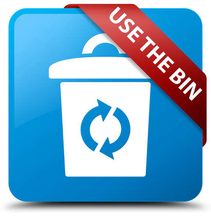 Use the bin cyan blue square button