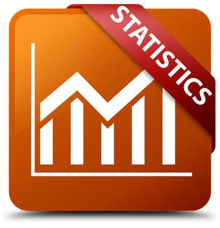 Statistics brown square button