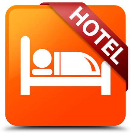 Hotel orange square button