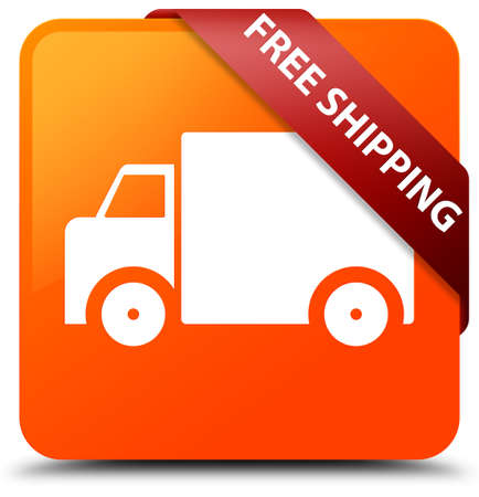 Free shipping orange square button