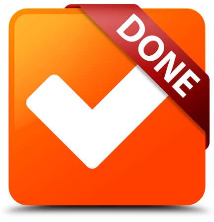 Done (validate icon) orange square button