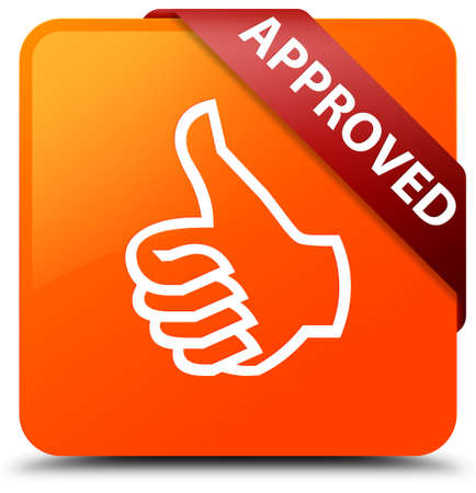 Approved (thumbs up icon) orange square button