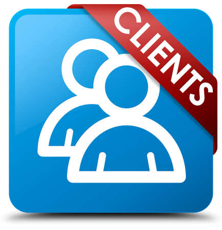 testimonials: Clients (group icon) cyan blue square button