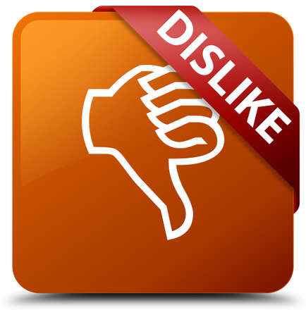 disapprove: Dislike brown square button