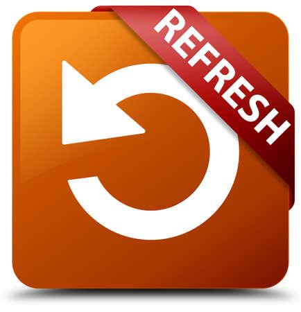 square button: Refresh (rotate arrow icon) brown square button