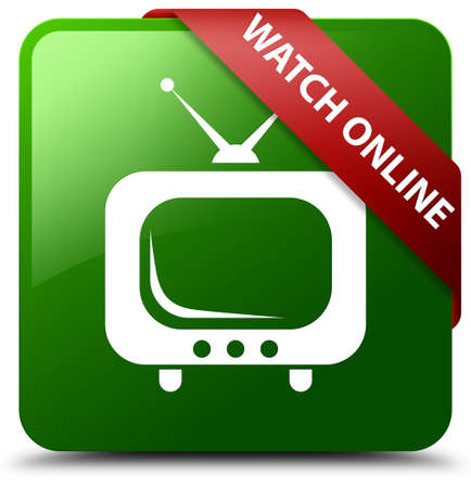 Watch online green square button