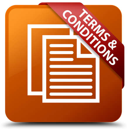 Terms and conditions (pages icon) brown square button