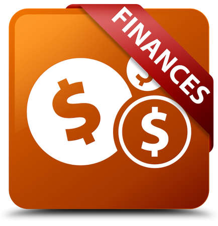 account: Finances (dollar sign) brown square button