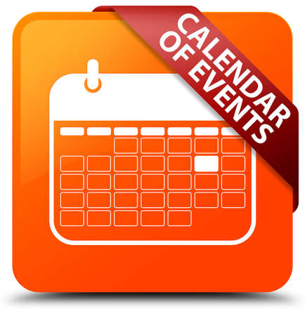 event planner: Calendar of events orange square button