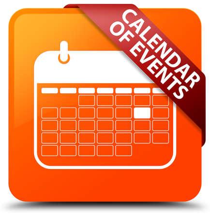 Calendar of events orange square button