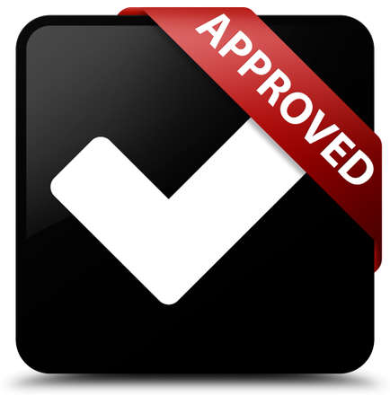 validate: Approved (validate icon) black square button