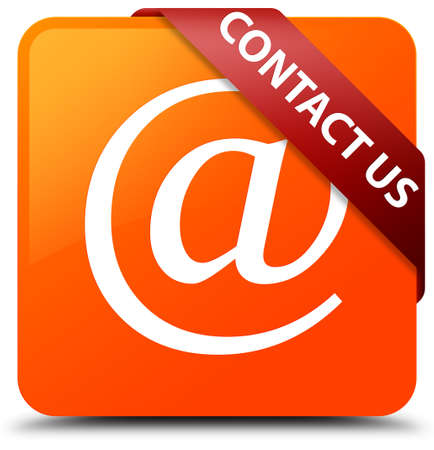 Contact us (email address icon) orange square button