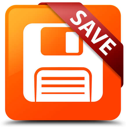 floppy: Save (floppy disk icon) orange square button
