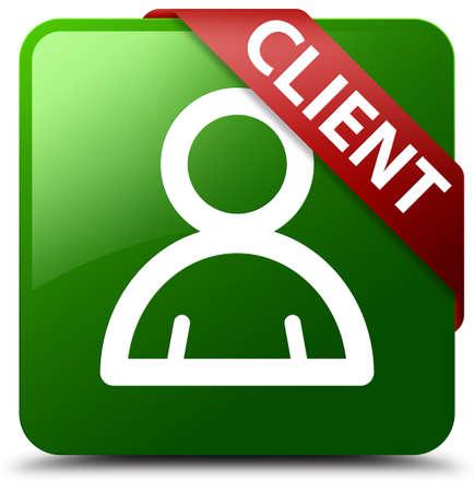Client (member icon) green square button
