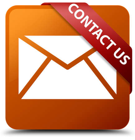 Contact us (email icon) brown square button
