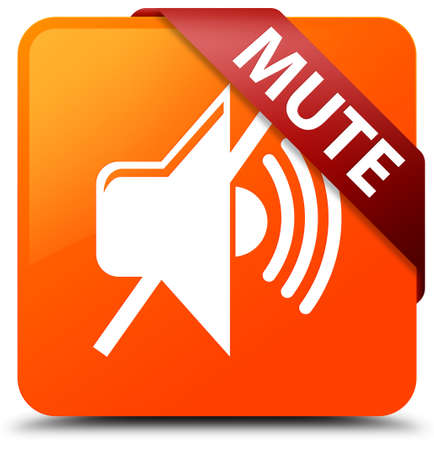 Mute orange square button
