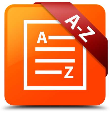 A-Z (list page icon) orange square button