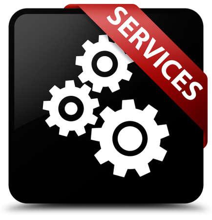 Services (gears icon) black square button