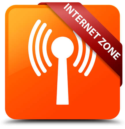 Internet zone (wlan network) orange square button