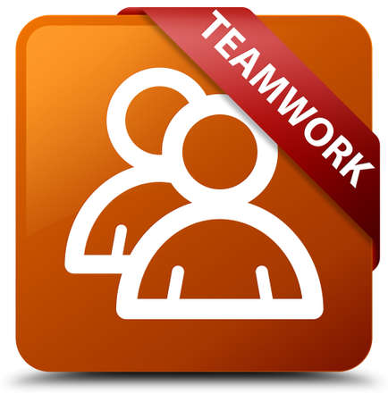 account: Teamwork (group icon) brown square button